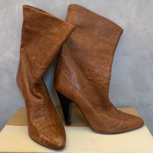 BCBGMAXAZRIA Genuine Leather Ankle Boots